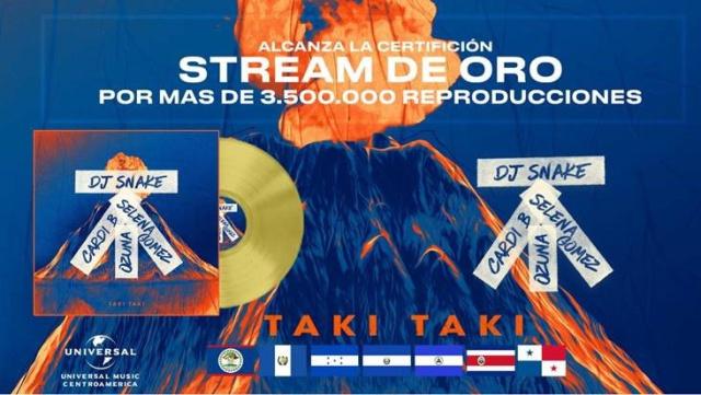 Single de oro en Centroamérica para TAKI TAKI