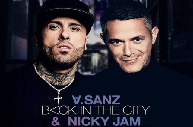 "Alejandro Sanz junto a Nicky Jam ""Back In The City"""