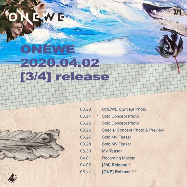 Onewe anuncia la fecha de su próximo lanzamiento