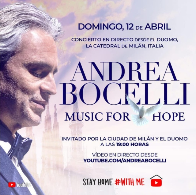 Music for Hope con Andrea Bocelli