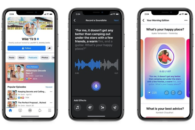 Facebook anuncia su plataforma de podcasts en vivo